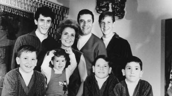 Lewis and his family in 1967. He also had a daughter with his second wife.