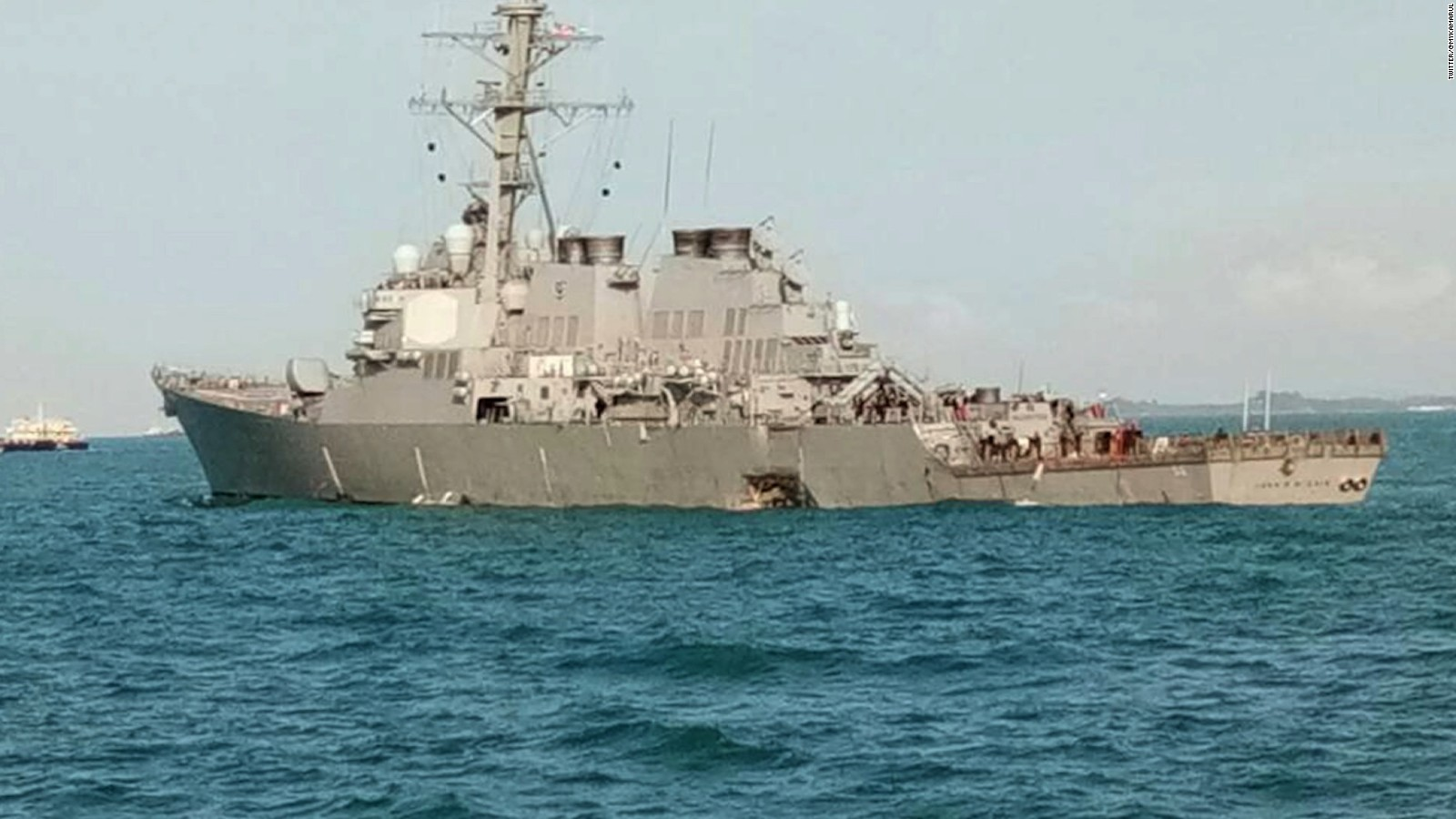 Navy Warship Collision Search For Sailors Continues Cnn