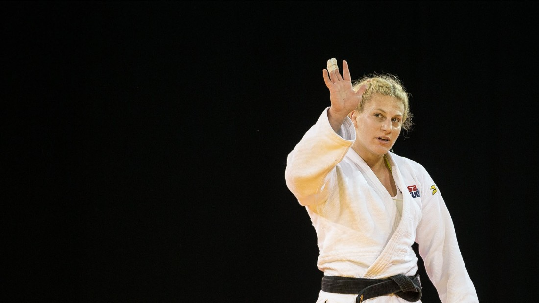 "Harrison is a two-time Olympic champion who, at London 2012, became the sport's first American Olympic gold medalist. Four years later, in Rio, she retained her title. ""Judo saved my life,"" Harrison wrote in <a href=""https://edition.cnn.com/2017/08/21/sport/kayla-harrison-judo-world-championships-budapest/index.html"">an exclusive CNN Sport column</a>. ""The sport gave me a goal, gave me something to wake up for. If I didn't have that when I was a teenager, I might not even be here."""