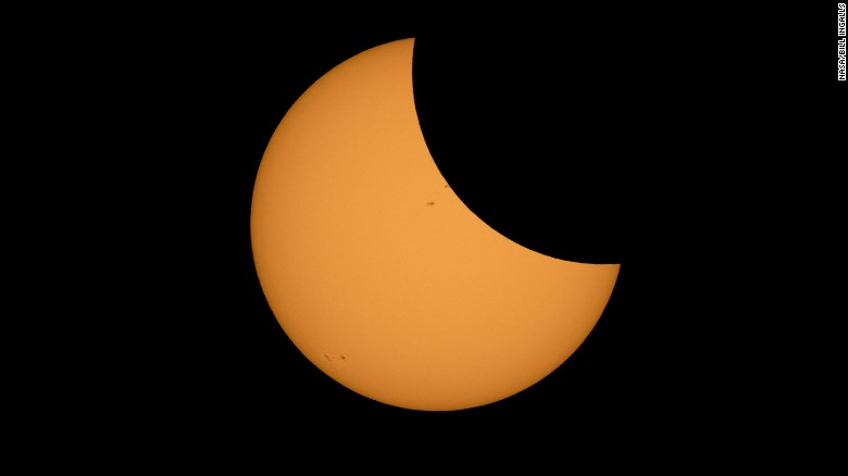 The Moon is seen passing in front of the Sun during a solar eclipse from Ross Lake, Northern Cascades National Park, Washington on Monday, Aug. 21, 2017. A total solar eclipse swept across a narrow portion of the contiguous United States from Lincoln Beach, Oregon to Charleston, South Carolina. A partial solar eclipse was visible across the entire North American continent along with parts of South America, Africa, and Europe.