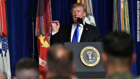 Trump acknowledges flip-flop on Afghanistan