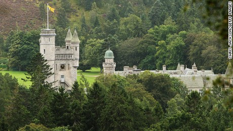 Balmoral Castle, the Queen's Scottish estate, in Aberdeenshire.