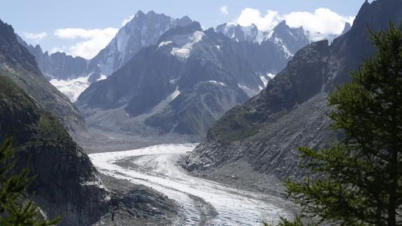 Frozen terror: In the book, Frankenstein confronts his monster by the Mer de Glace glacier near Chamonix.