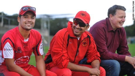 Mujaddady (L) was all smiles at the Super Series finals day.