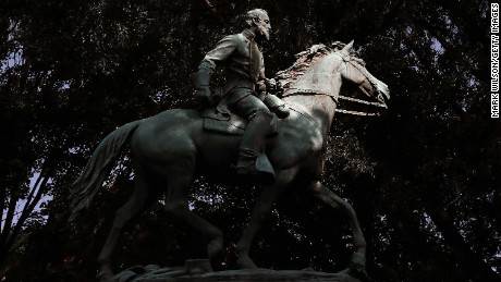 "The statue of Thomas Jonathan ""Stonewall"" Jackson in Charlottesville."