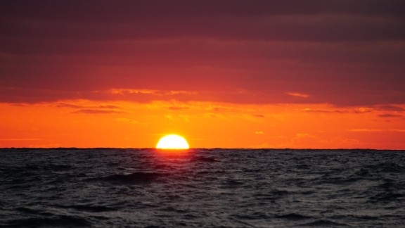 The sun sets are stunning at sea because there is nothing to block the horizon. We were treated to this spectacle in the Atlantic.