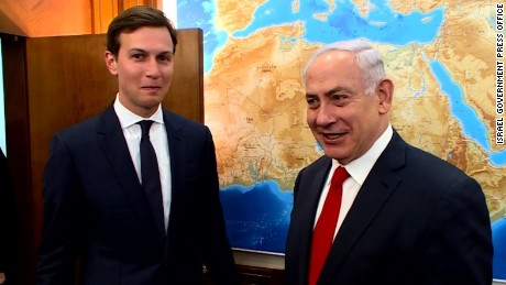 White House adviser Jared Kushner with Benjamin Netanyahu