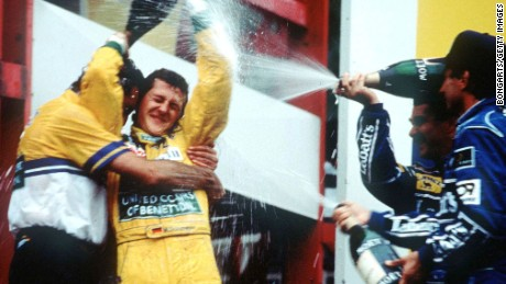 Michael Schumacher won the first of his record 91 grands prix at Spa in 1992.