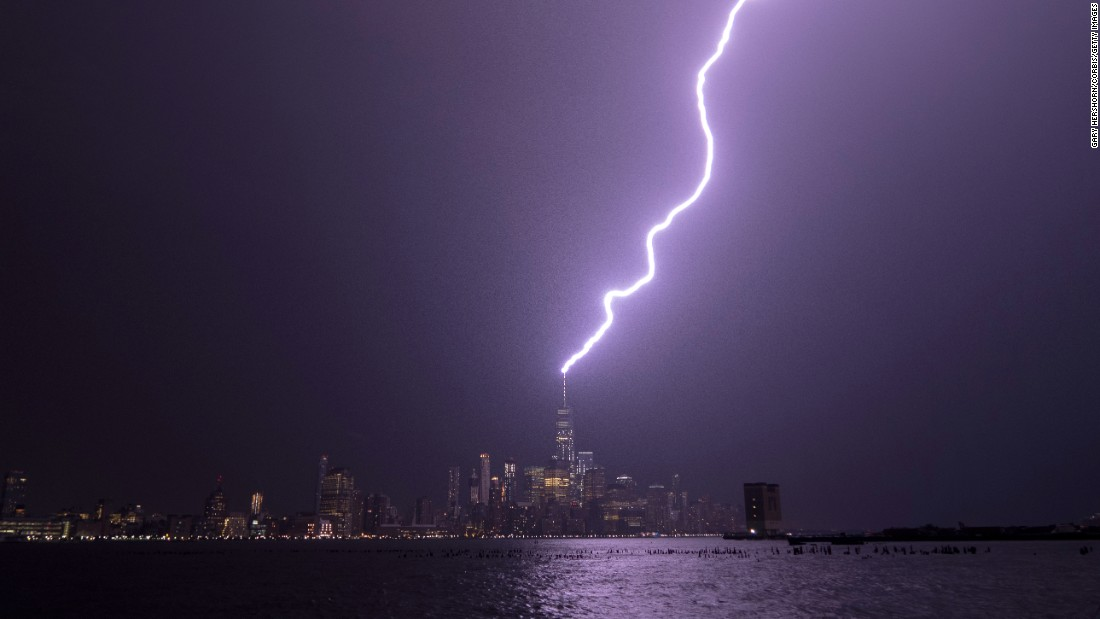"Lightning strikes the One World Trade Center in New York City on Tuesday, August 22. <a href=""http://www.cnn.com/2017/08/17/world/gallery/week-in-photos-0818/index.html"" target=""_blank"">See last week in 27 photos</a>"