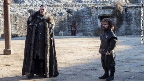 Kit Harington, Peter Dinklage in 'Game of Thrones'