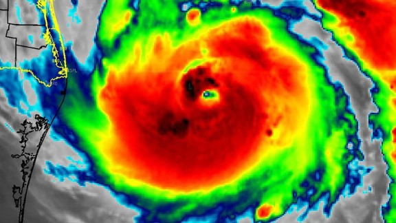 The National Weather Service posted an image of Hurricane Harvey gaining strength over the Gulf of Mexico. Currently a Category 2 hurricane, Harvey's eye is becoming more defined as it intensifies over the water.