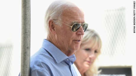 NEW YORK, NY: Former Vice President Joe Biden waits backstage during OZY FEST 2017 Presented By OZY.com at Rumsey Playfield on July 22, 2017 in New York City.  (Bryan Bedder/Getty Images for Ozy Fusion Fest 2017)