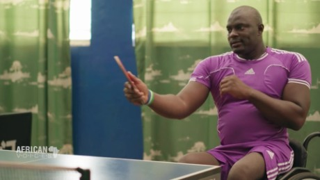 African Voices Sierra Leone paralympic table tennis player George Wyndham B_00055426