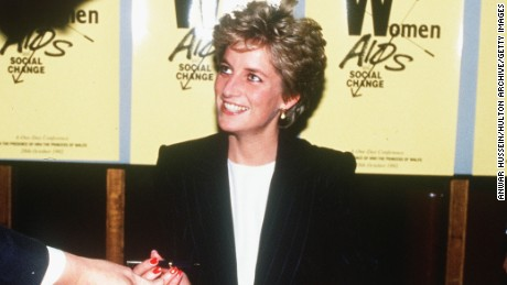 LONDON, ENGLAND - APRIL 9:  (FILE PHOTO)  Diana, Princess of Wales signs the guestbook at the Womens Aids and Social Change Foundation in this April 9, 1987 file photo in London, England.  (Photo by Anwar Hussein/Getty Images)