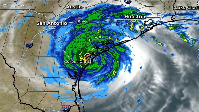 hurricane harvey makes landfall in texas