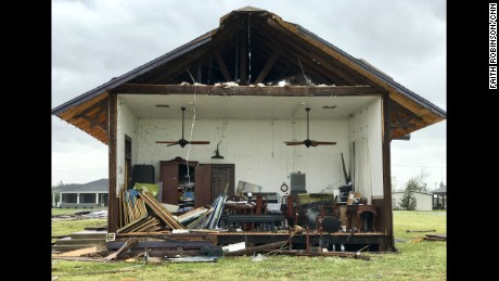Rockport home sliced in half from Hurricane Harvey.