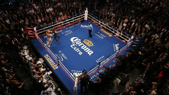 The much-anticipated fight was held at the T-Mobile Arena in Las Vegas.