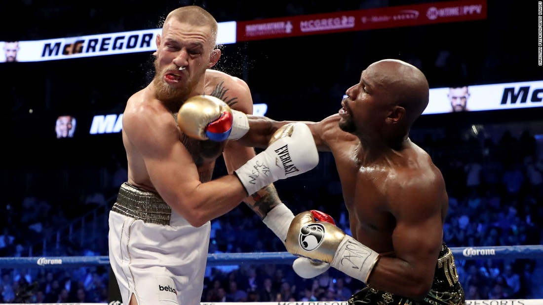 Mayweather landed more punches than McGregor -- 130-60 -- in rounds six through 10. McGregor had a 51-40 edge in the first five rounds.