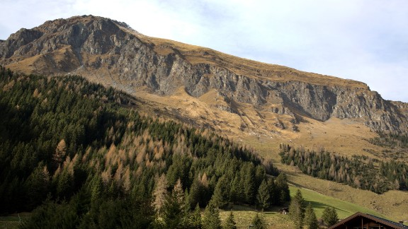 A view of the Zillertal Valley in the Austrian Alps, near an area where five climbers were killed.
