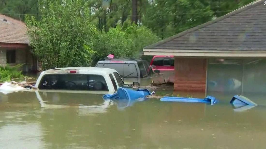 CNN tours Texas neighborhood buried by water - CNN Video