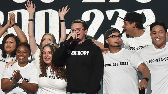 Logic performed Sunday night on MTV's 2017 Video Music Awards.