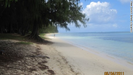 Hall arrested Li near this beach in Saipan where his father fought during World War II.