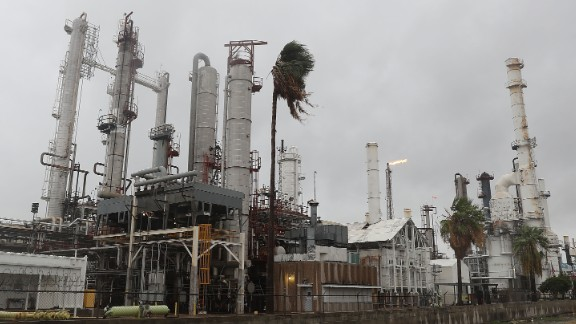 CORPUS CHRISTI, TX - AUGUST 25:  An oil refinery is seen before the arrival of Hurricane Harvey on August 25, 2017 in Corpus Christi, Texas. As Hurricane Harvey comes ashore many of the countries oil refineries are in its path and have had to shut down.  (Photo by Joe Raedle/Getty Images)