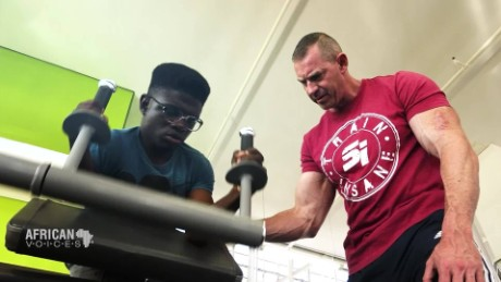 African Voices Caleb Mutombo: South Africa's bodybuilding powerhouse A_00010230