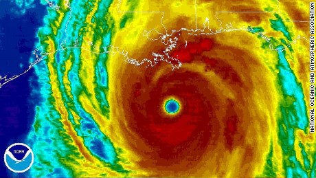 Hurricane Katrina threatens Louisiana on August 29, 2005.