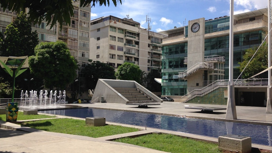 An idyllic but empty public square in Caracas photographed by Atahualpa during a 2016 trip to the country.