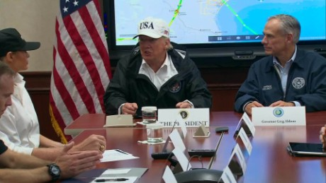 Trump surveys hurricane-ravaged Texas