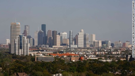 Houston's skyline in 2013. The city has seen a building boom in recent years.