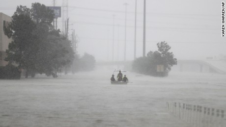 Torrential downpour submerges parts of Houston