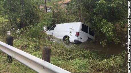 The van in which an elderly couple and their four grandchildren were riding when the vehicle was swept away Sunday by Tropical Storm Harvey's floodwaters has been found, Sheriff Ed Gonzalez of Harris County, Texas, said Wednesday.