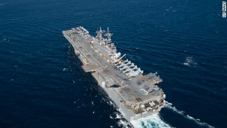 USS Kearsarge sets sail in 2016.