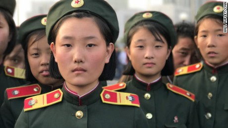 """As long as as we have our very capable Korean People's Army and the leadership of Marshall Kim Jong Un, we don't have any enemy we cannot conquer,"" 14-year-old Kim Su Jong said."