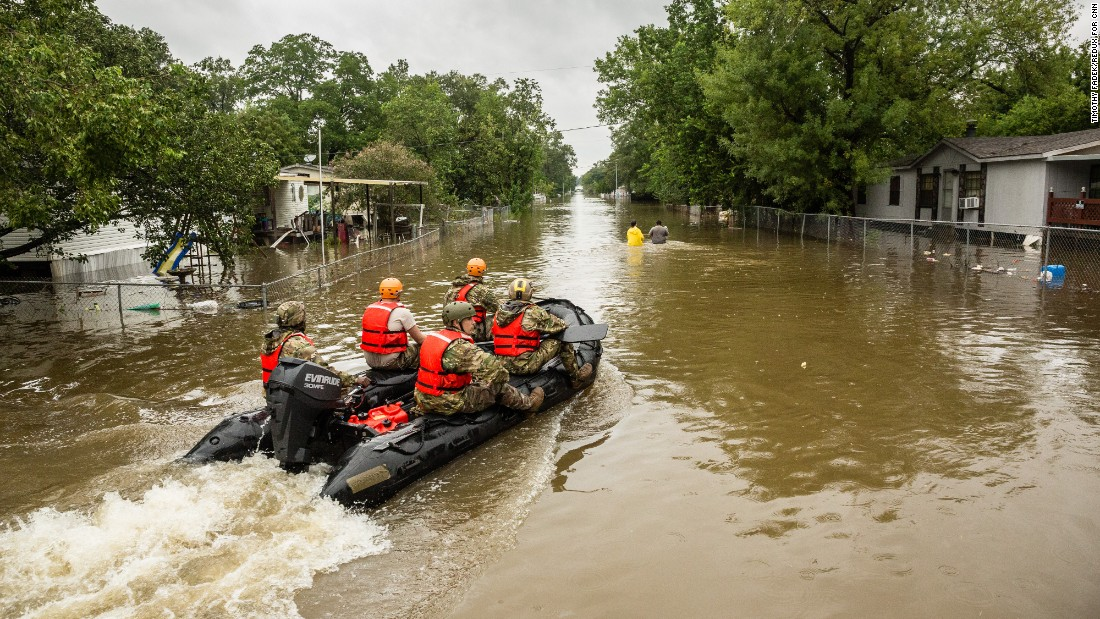 "When Harvey slammed the Texas coast and flooded much of Houston, <a href=""https://www.cnn.com/interactive/2017/08/us/hurricane-harvey-cnnphotos/"" target=""_blank"">volunteers sprang into action.</a> Some came from as far away as the Florida Everglades, boats in tow, ready to rescue people trapped in their homes."