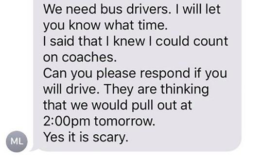 High school's coaches brave hurricane to evacuate their town