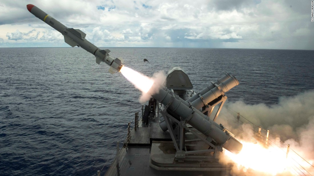 "A harpoon missile is launched from the USS Coronado as part of a live-fire training exercise in the Philippine Sea, near the island of Guam, on Tuesday, August 22. Guam <a href=""http://www.cnn.com/2017/08/29/asia/north-korea-missile-launch-guam-threat/index.html"" target=""_blank"">has long been a focal point of North Korea's anger against the United States</a> and is often a target of North Korean saber-rattling."