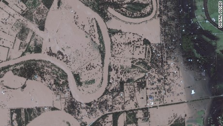 Satellite images show Harvey's impact on Texas towns