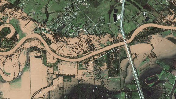 Satellite images from Digital Globe show the aftermath of Harvey.