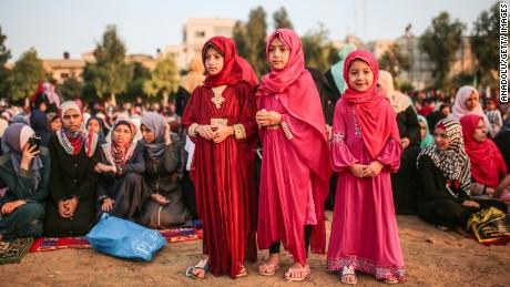 Muslims celebrate the Eid al-Adha festival