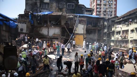 The collapsed building in Mumbai's Bhendi Bazar neighborhood had been deemed unsafe in 2013.