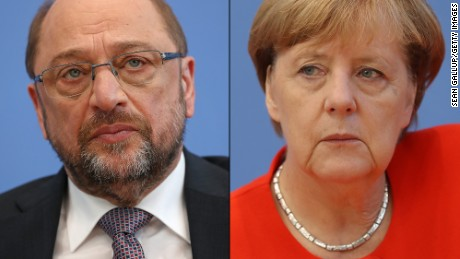 Martin Schulz of the Social Democratic Party will be trying to set a distinct agenda from the Christian Democratic Union's Angela Merkel.