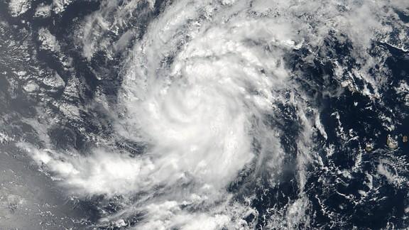 On Aug. 30 at 11:36 a.m. EDT (1536 UTC) NASA-NOAA's Suomi NPP satellite captured a visible image of Tropical Storm Irma in the Eastern Atlantic Ocean. Credits: NASA/NOAA, Goddard Rapid Response Team