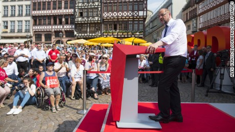 Schulz has been holding campaign rallies across Germany -- often attracting thousands -- in the run-up to the election.