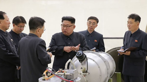 North Korea said it can attack electrical grids with the nuclear warhead shown to leader Kim Jong Un in pictures released Sunday.