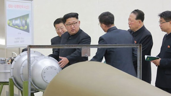 The nuclear device was being mounted into the warhead of an intercontinental ballistic missile, KCNA said.