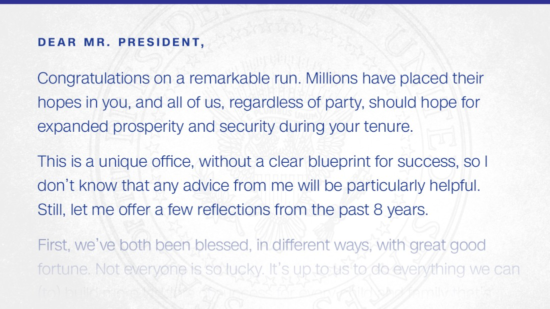 Read the inauguration day letter obama left for trump cnnpolitics thecheapjerseys Choice Image