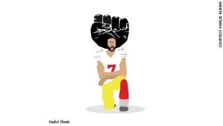 'The black fist of our time': The story behind a viral Colin Kaepernick cartoon